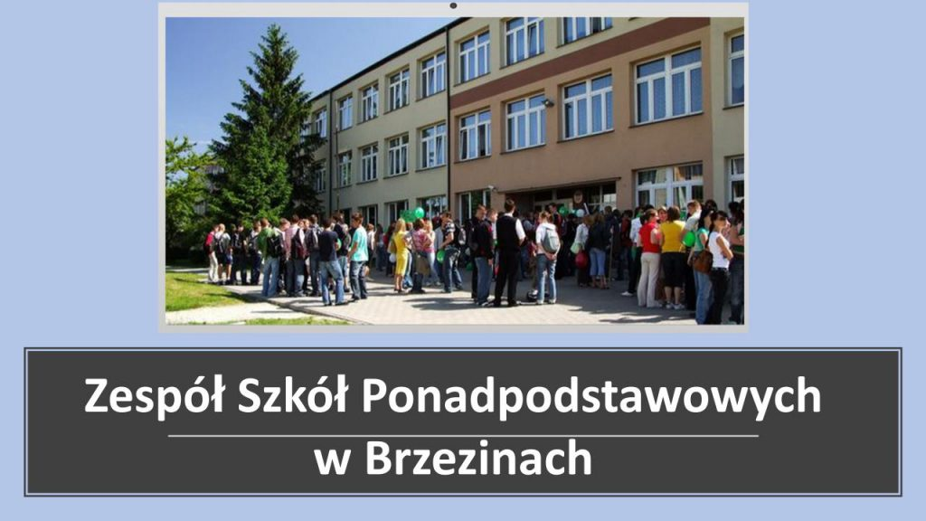 Zespół Szkół Ponadpodstawowych  w Brzezinach