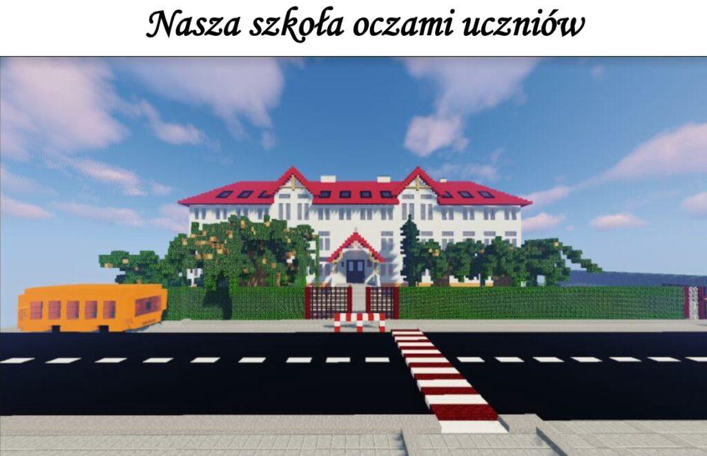 Budynek szkoły w Lipcach widziany oczami uczniów